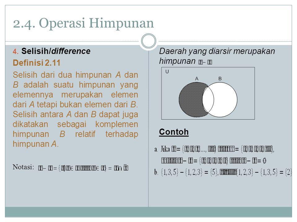 2.4.Operasi Himpunan 4.