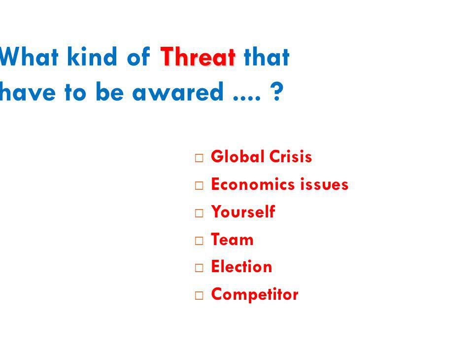 Threat What kind of Threat that have to be awared....