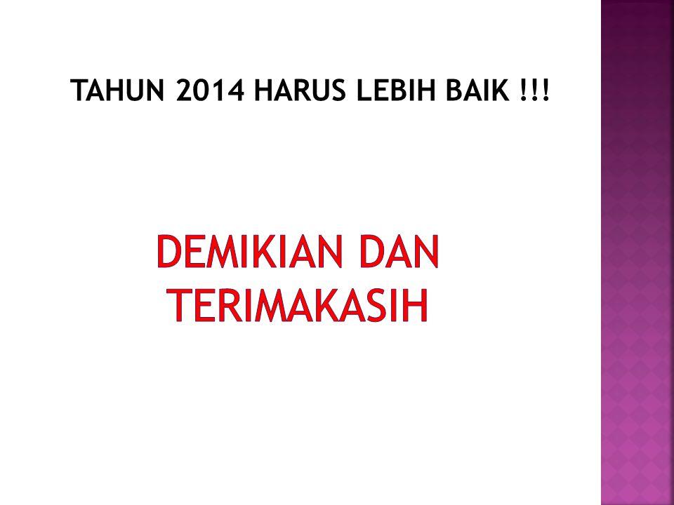 TAHUN 2014 HARUS LEBIH BAIK !!!