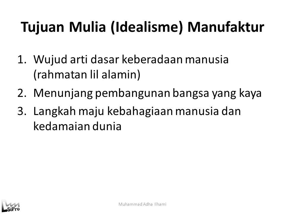 Definisi Manufaktur (2) Manufaktur adalah proses konversi dari design (rancangan) menjadi produk akhir (Young & Mayer, 1984) – Present definition Prod