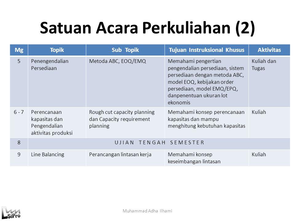 Ilustrasi Proses Produksi Muhammad Adha Ilhami 3'5'3' t = 6 3 Inventori WIP