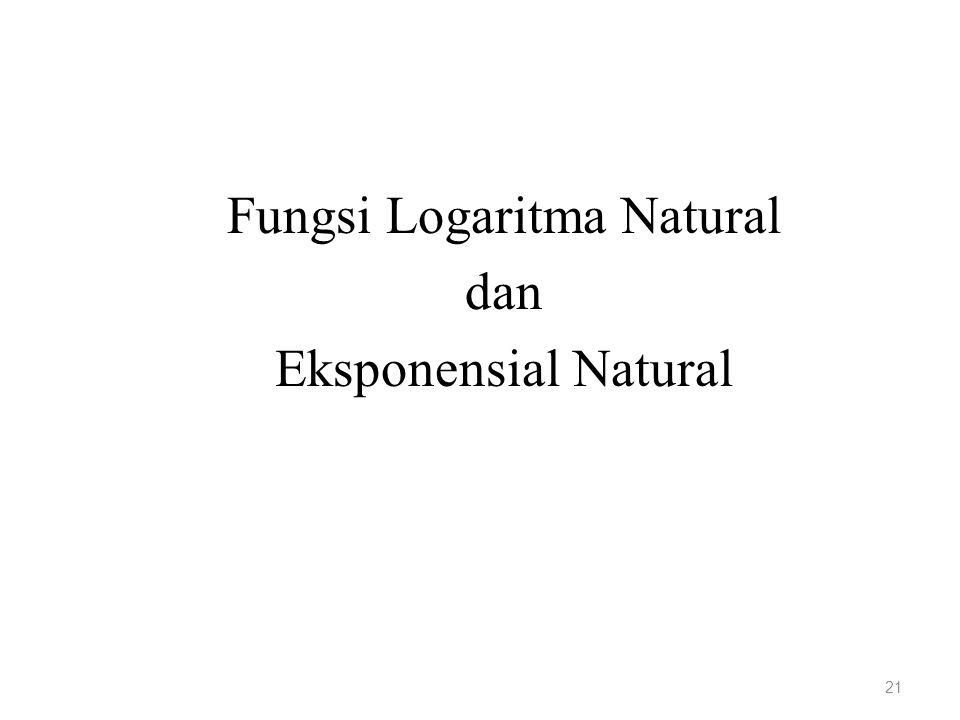 Fungsi Logaritma Natural dan Eksponensial Natural 21