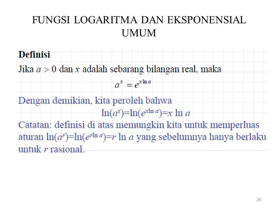 FUNGSI LOGARITMA DAN EKSPONENSIAL UMUM 36