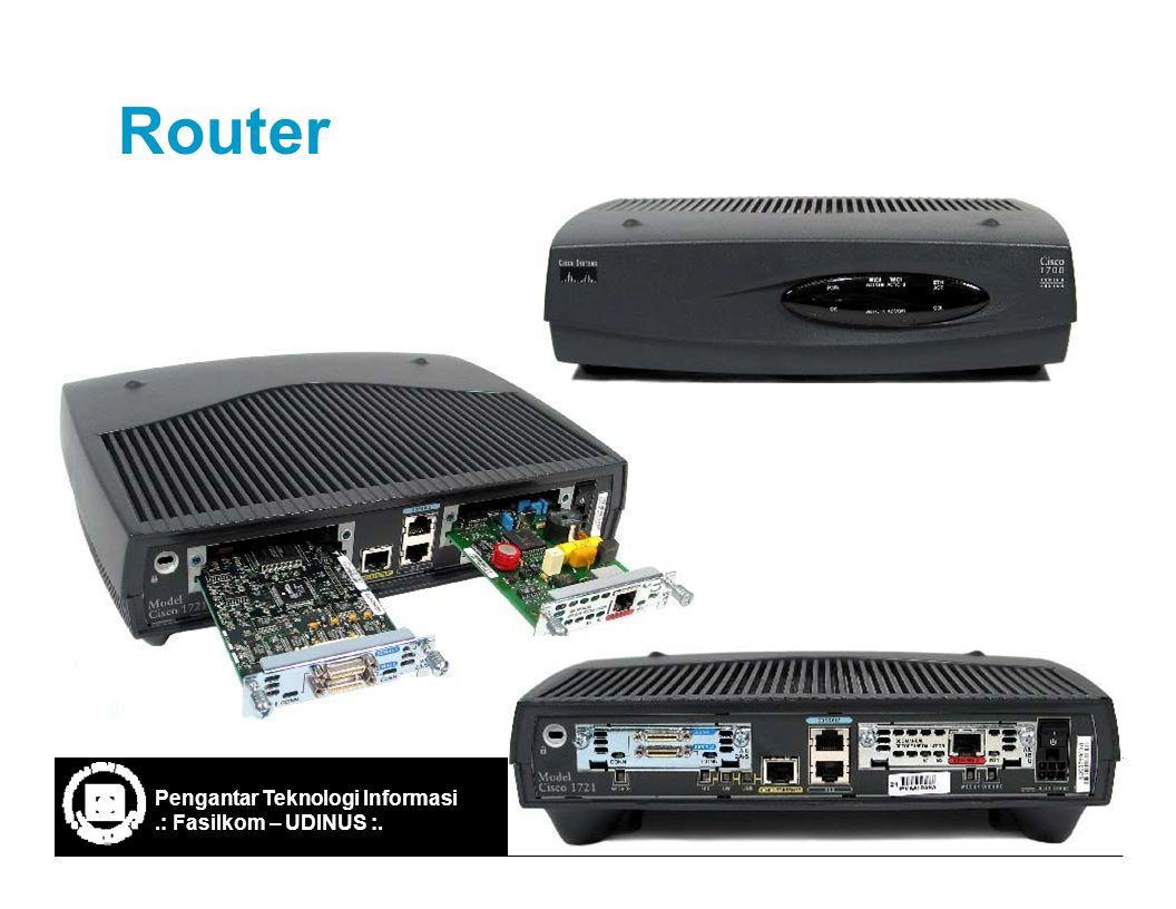 Ref: IF-ITB/Santika WP/2003 21 Router Pengantar Teknologi Informasi.: Fasilkom – UDINUS :.