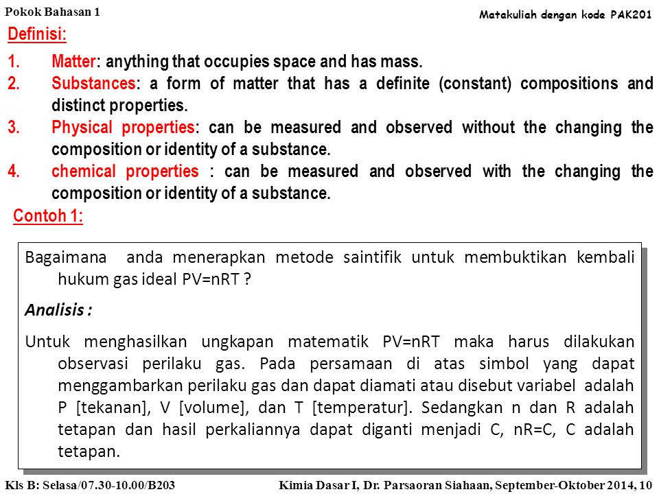 Klasifikasi Zat dan Perubahannya: Pakan ikan adalah campuran beberapa zat kimia, salah satunya adalah protein. Plastik juga adalah campuran beberapa z