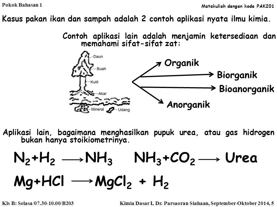 Pendahuluan: Ilmu Kimia, Metode Ilmiah, dan Klasifikasi Zat. Metode pembelajaran adalah berbasis masalah, dilanjutkan dengan penjelasan konsep. Dua ma
