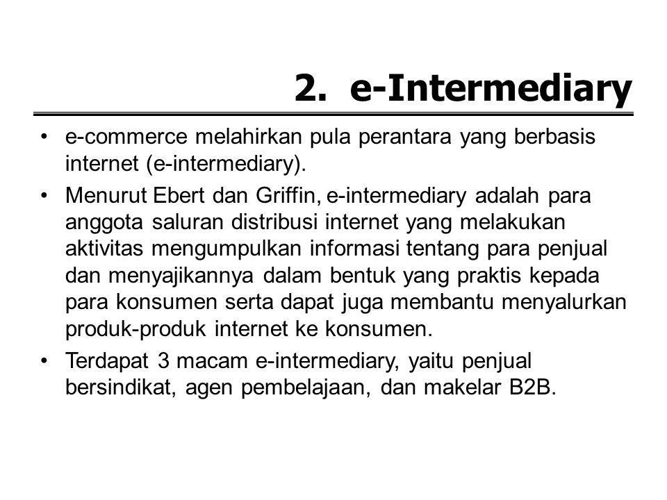 d. Consumer to Business (C2B) Consumer to Business (C2B) merupakan kebalikan dari Business to Consumer (B2C), dimana konsumen akhir bertindak sebagai