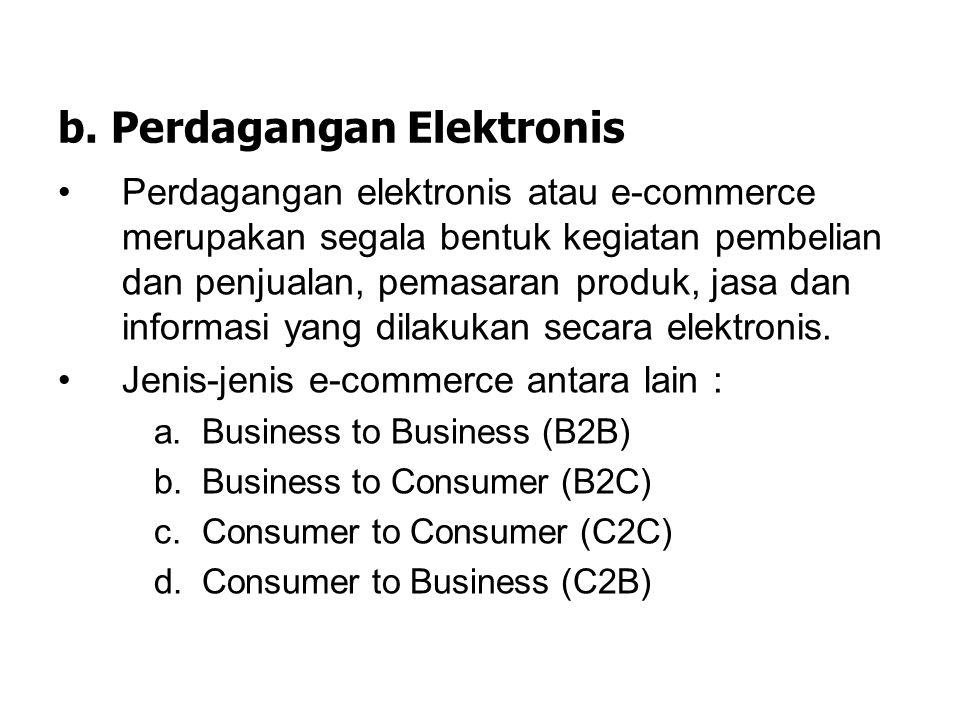 a. Sistem Bisnis Internal Sistem bisnis internal digunakan untuk melayani proses dan bisnis secara internal. Melalui sistem ini dapat dilakukan bebera