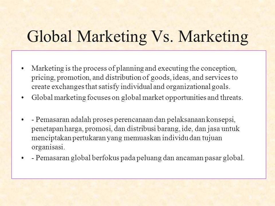 3 Global Marketing Vs.