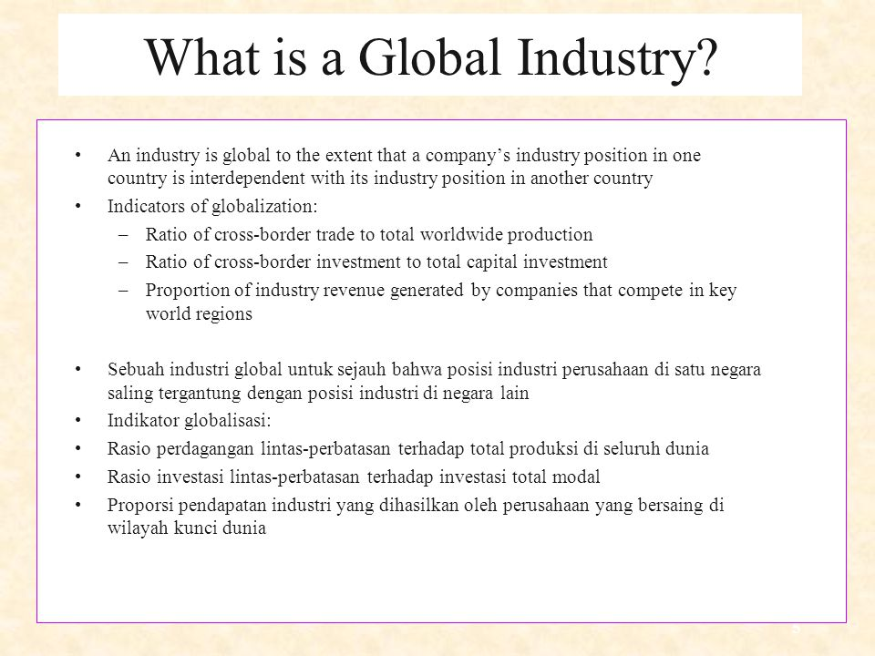 5 What is a Global Industry.
