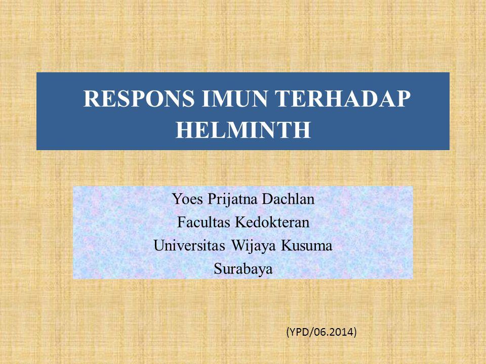 RESPONS IMUN TERHADAP HELMINTH Yoes Prijatna Dachlan Facultas Kedokteran Universitas Wijaya Kusuma Surabaya (YPD/06.2014)