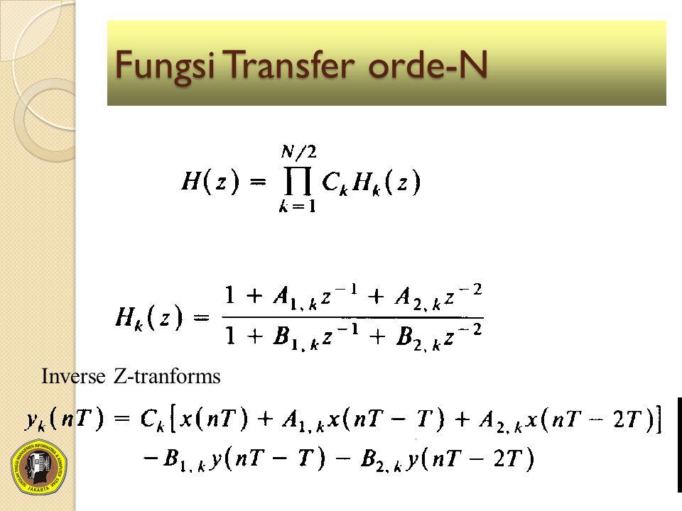 Fungsi Transfer orde-N Inverse Z-tranforms