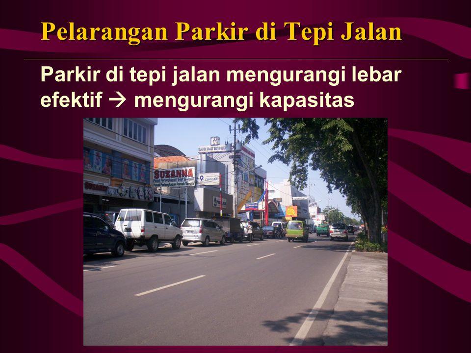 Lokasi Parkir Khusus Prasarana parkir jangka pendek dan jangka panjang perlu dipisah