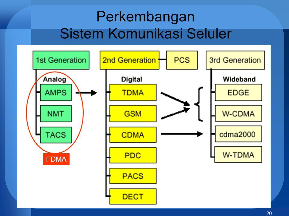 20 Perkembangan Sistem Komunikasi Seluler FDMA