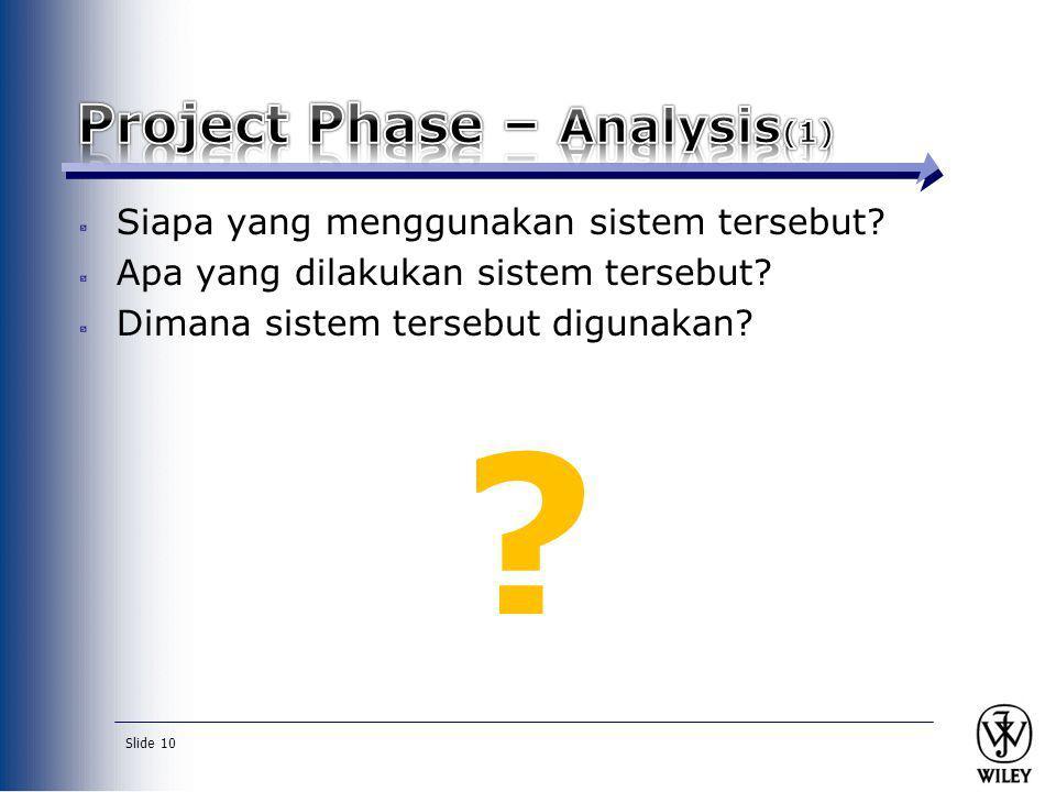 Slide 10 Siapa yang menggunakan sistem tersebut? Apa yang dilakukan sistem tersebut? Dimana sistem tersebut digunakan? ?