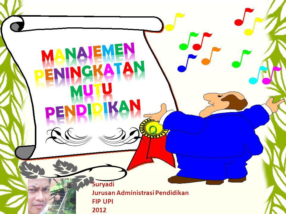 Q Suryadi Jurusan Administrasi Pendidikan FIP UPI 2012