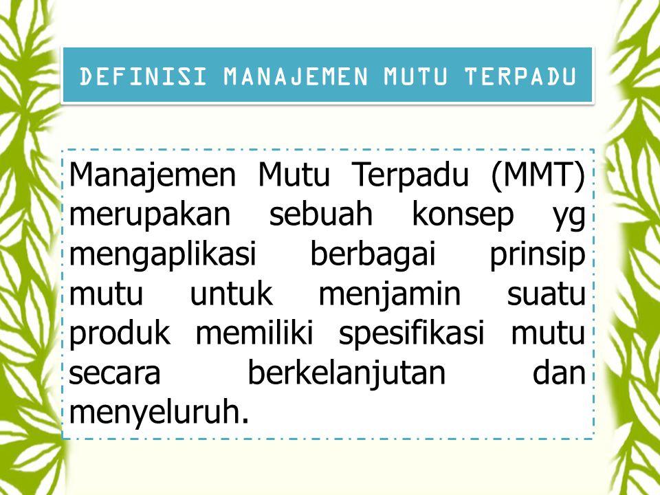 DEFINISI MUTU UMUM Sallis (1993) Jasa/pelayanan atau produk yang menyamai atau melebihi kebutuhan dan harapan pelanggannya.
