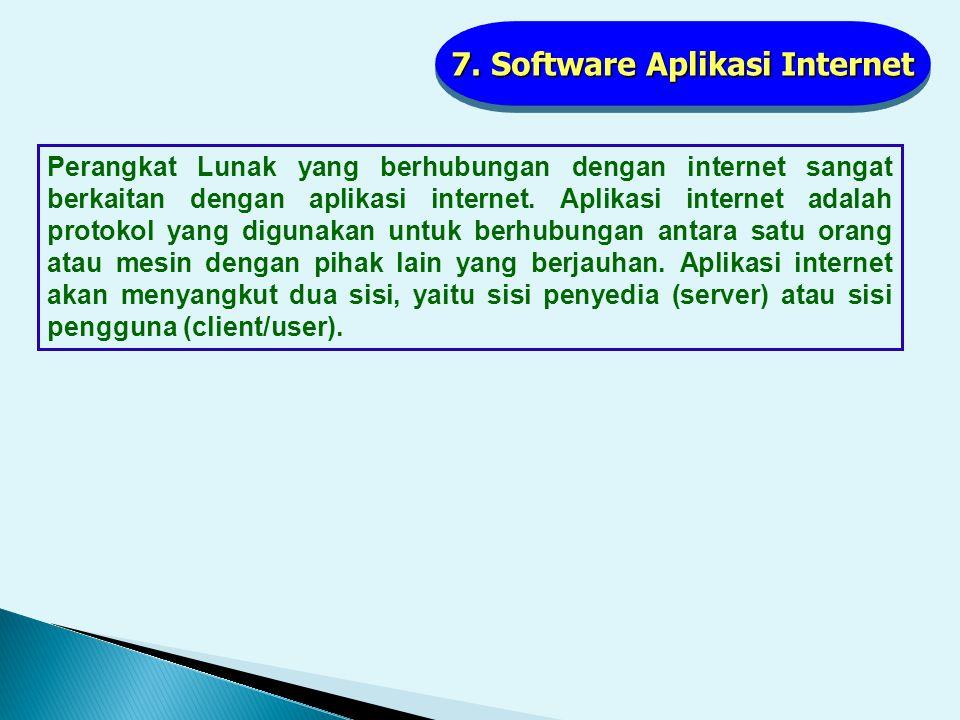 6. Software Multimedia Software multimedia ini juga paling sering dimanfaatkan oleh para user komputer terutama untuk keperluan presentasi yang banyak