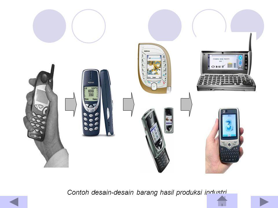 Contoh desain-desain barang hasil produksi industri.