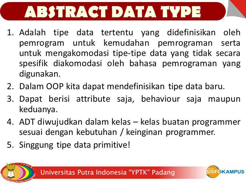 1.Adalah tipe data tertentu yang didefinisikan oleh pemrogram untuk kemudahan pemrograman serta untuk mengakomodasi tipe-tipe data yang tidak secara s