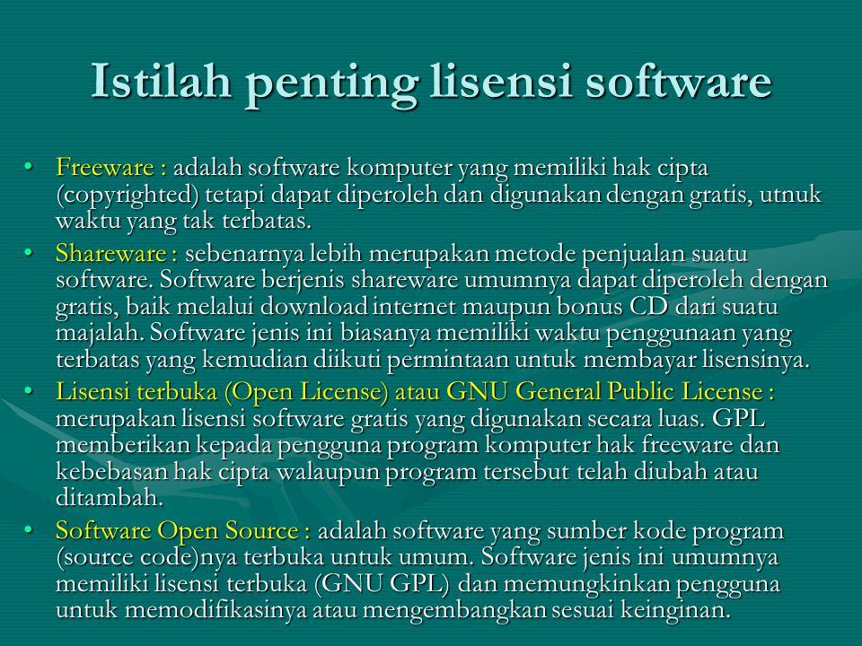 LinuxKelebihan: 1.Stabil 2.Belum ada virus yang menyerang SO Linux 3.Harganya murah (pada Open source malah gratis) Kekurangan: 1.Pada versi awal kurang user friendly 2.Dukungan hardware dan software masih kurang 3.Banyaknya jenis distribusi agak membingungkan pengguna