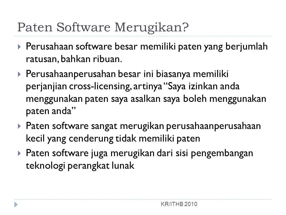 Paten Software Merugikan.
