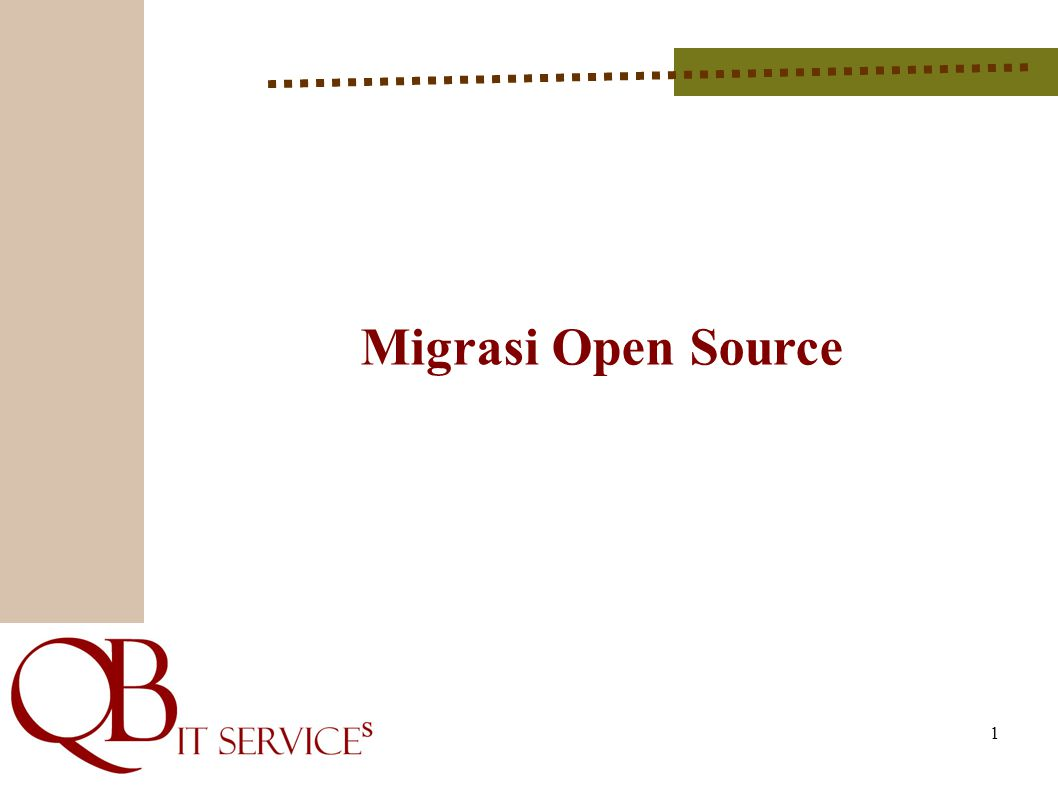 Latar Belakang * Menindak lanjuti himbauan dari MENPAN terkait Open Source dimana bagi semua BUMN dan elemen pemerintah pada tahun 2011 ini di wajibkan untuk menggunakan software legal dalam hal ini Open Source.