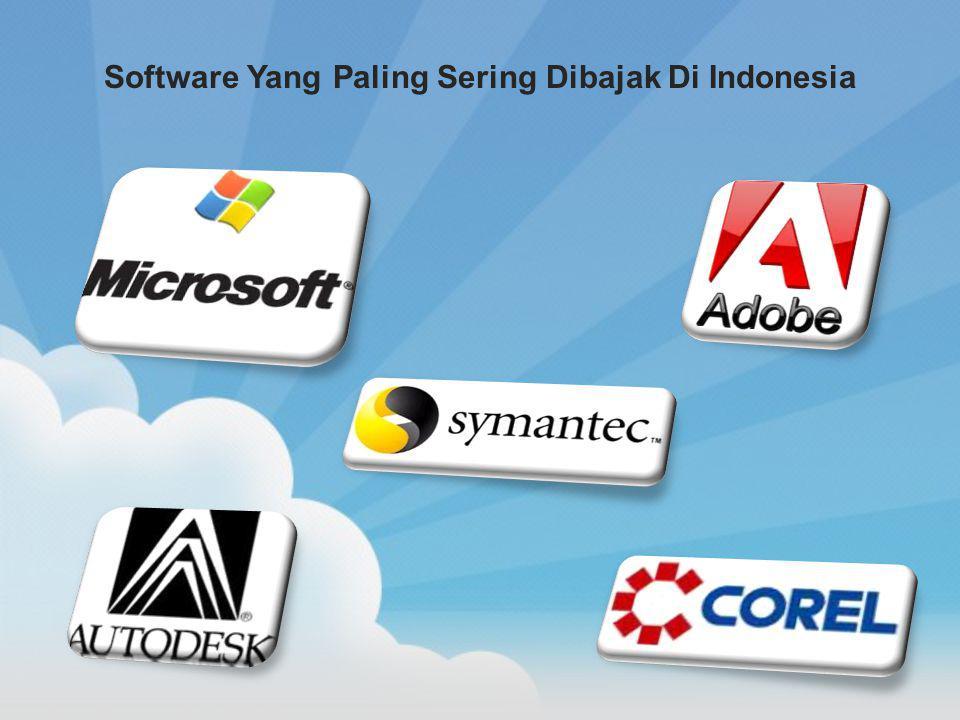 Software Yang Paling Sering Dibajak Di Indonesia