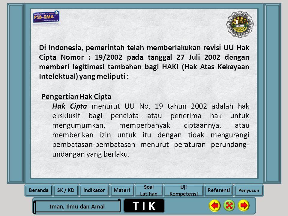 Rela Berbagi Ikhlas Memberi T I K Iman, Ilmu dan Amal BerandaSK / KDIndikatorMateri Soal Latihan Uji Kompetensi Penyusun Referensi Di Indonesia, pemer