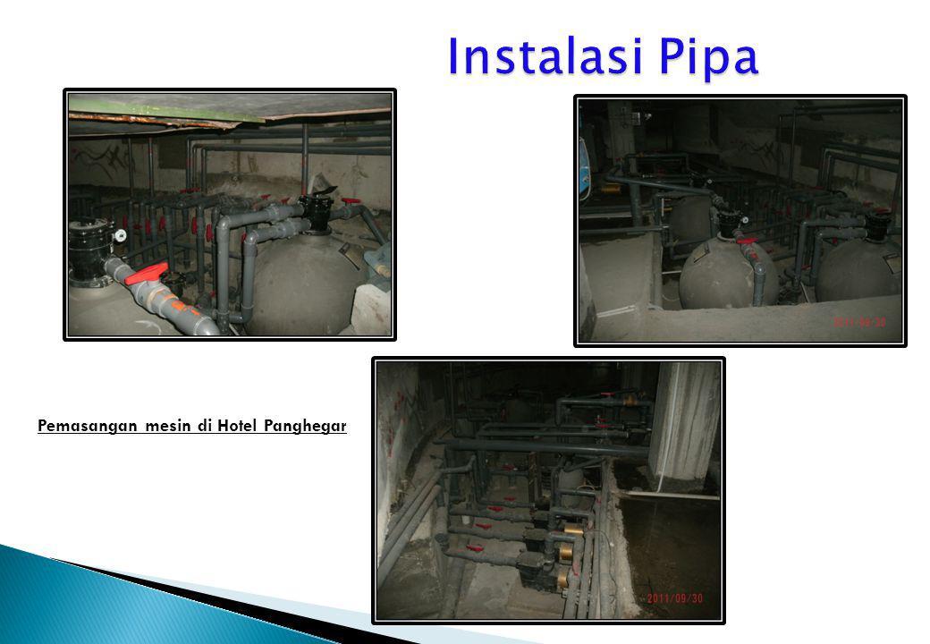Pemasangan mesin di Hotel Panghegar