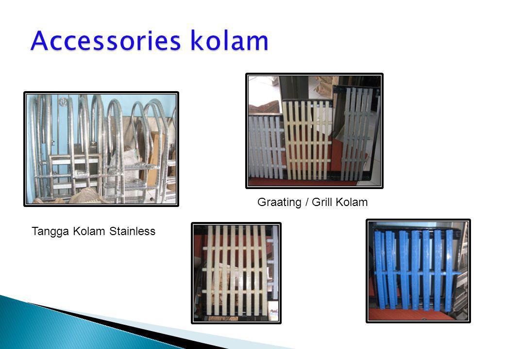 Tangga Kolam Stainless Graating / Grill Kolam