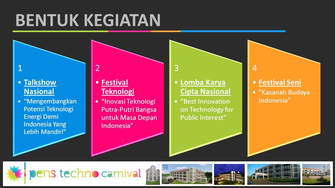 """1 Talkshow Nasional """"Mengembangkan Potensi Teknologi Energi Demi Indonesia Yang Lebih Mandiri"""" 2 Festival Teknologi """"Inovasi Teknologi Putra-Putri Ban"""