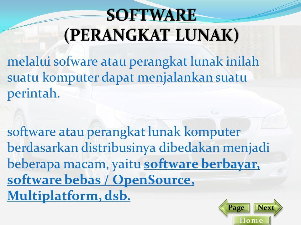 melalui sofware atau perangkat lunak inilah suatu komputer dapat menjalankan suatu perintah. software atau perangkat lunak komputer berdasarkan distri