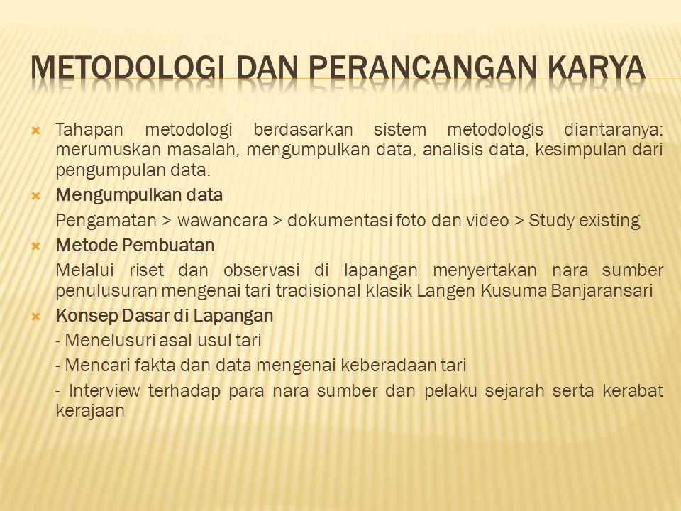  Tahapan metodologi berdasarkan sistem metodologis diantaranya: merumuskan masalah, mengumpulkan data, analisis data, kesimpulan dari pengumpulan dat