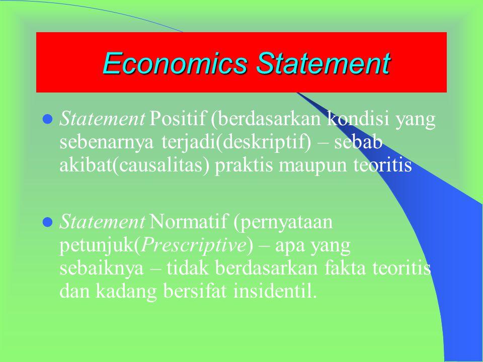 Lanjutan… Peranan Ekonom (ahli ekonomi) Membantu untuk menjawab pertanyaan seputar tujuan ekonomi yang bisa dicapai berdasarkan potensi sumber daya(SD