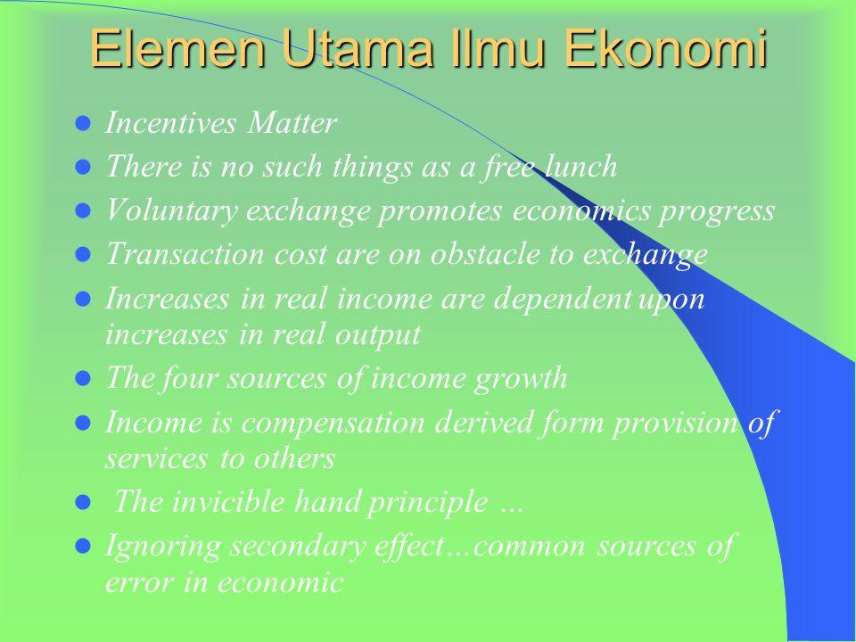 Lanjutan prinsip-2 Ekonomi 6. Pasar adalah tempat yang baik untuk kegiatan ekonomi 7. Pemerintah adakalanya dapat memperbaiki mekanisme pasar 8. Stand