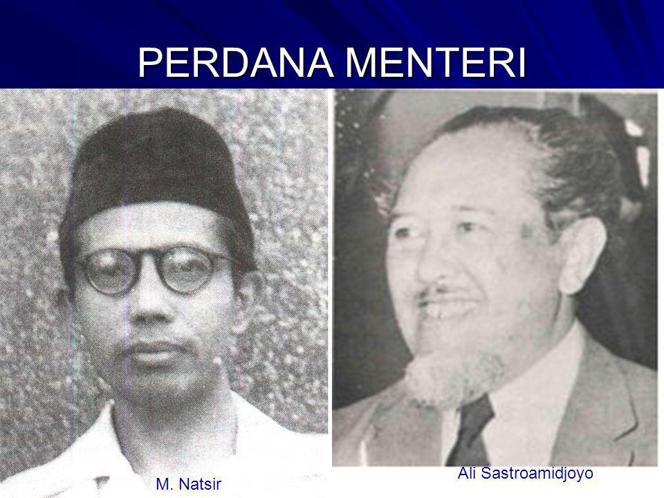 PERDANA MENTERI M. Natsir Ali Sastroamidjoyo