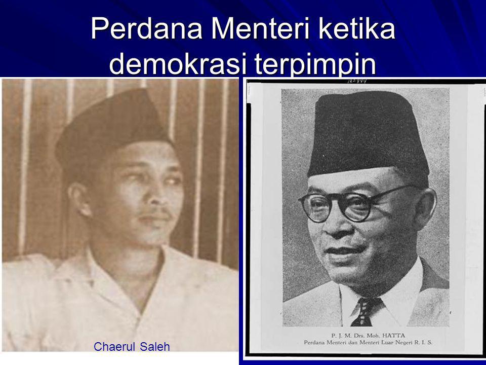 Perdana Menteri ketika demokrasi terpimpin Ali Sastroamidjoyo Burhanuddin Harahap Chaerul Saleh