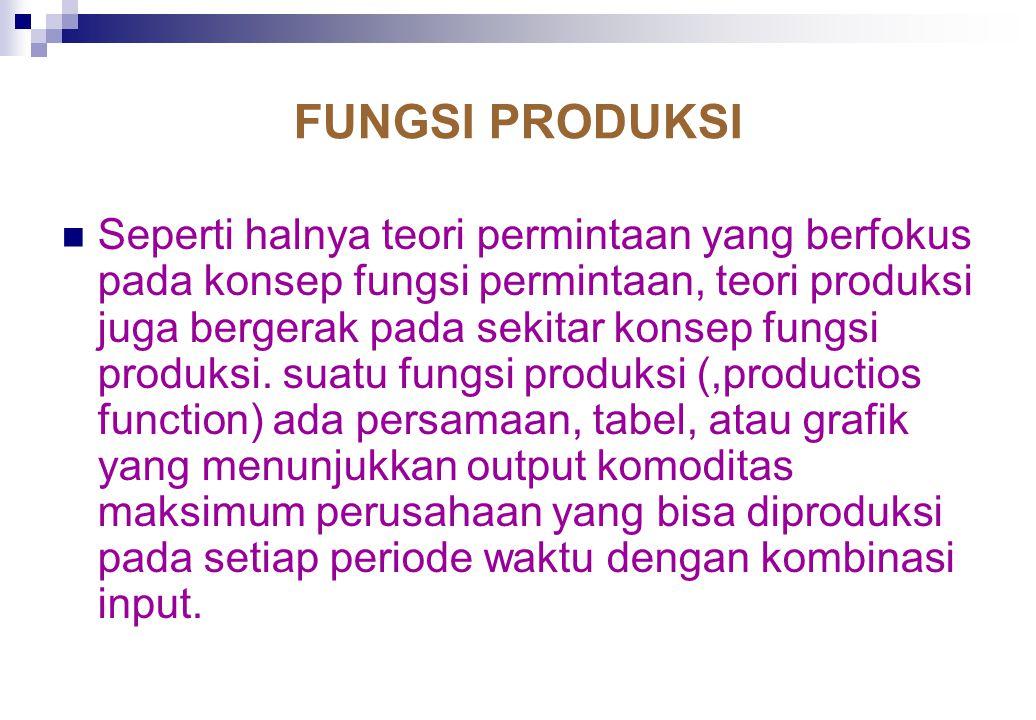 ORGANISASI PRODUKSI Produksi (production) merujuk pada perubahan bentuk berbagai input atau sumber-sumber daya menjadi output berupa barang dan jasa.