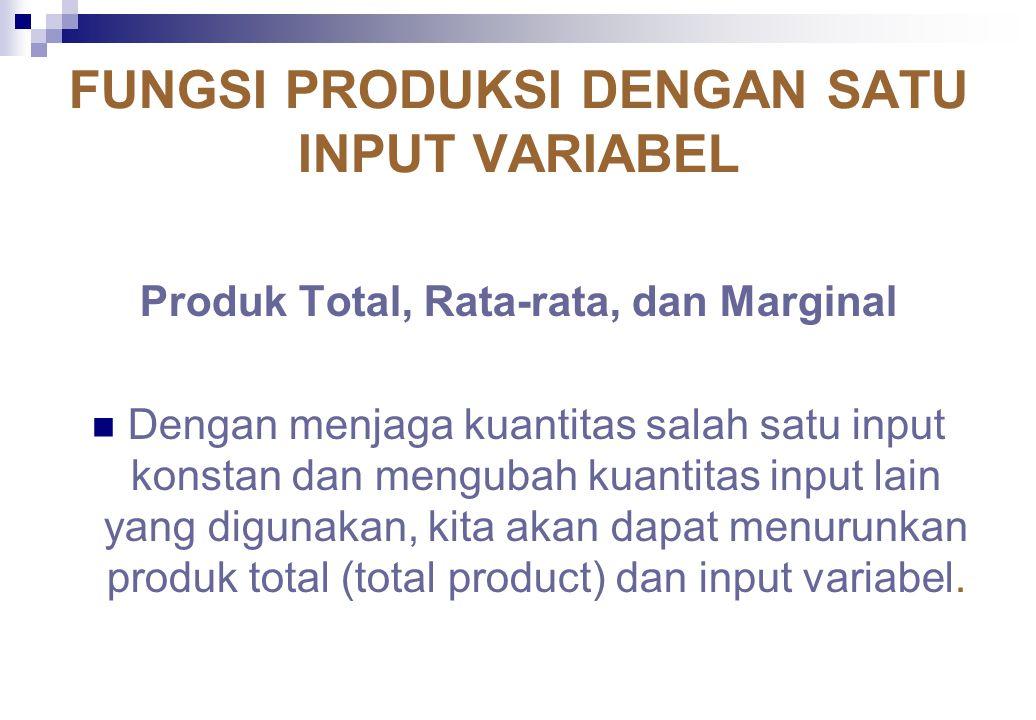 FUNGSI PRODUKSI Seperti halnya teori permintaan yang berfokus pada konsep fungsi permintaan, teori produksi juga bergerak pada sekitar konsep fungsi produksi.