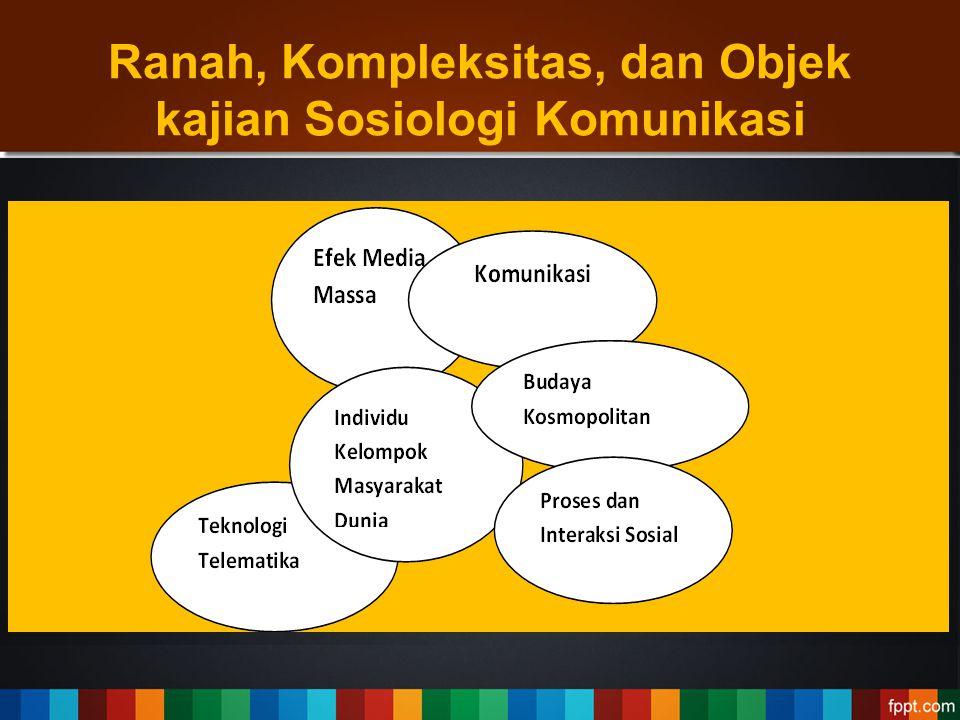 Ranah, Kompleksitas, dan Objek kajian Sosiologi Komunikasi
