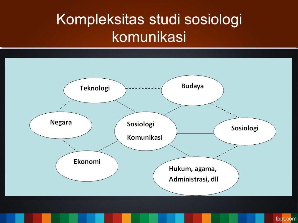Kompleksitas studi sosiologi komunikasi