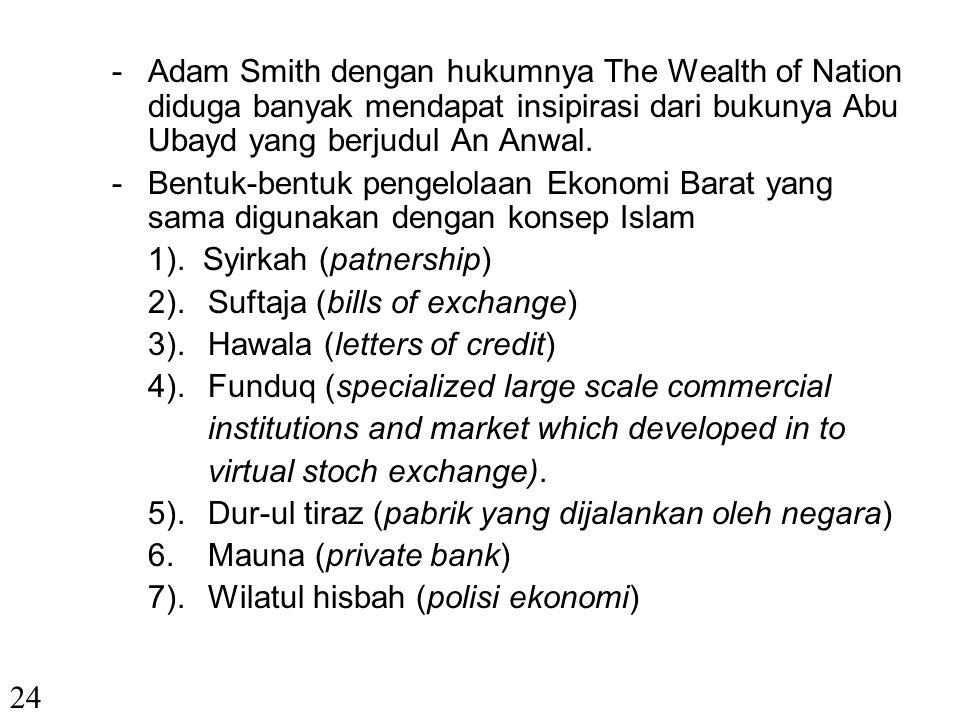 -Teori Parento Optimum yang populer dalam Ekonomi Konvensional diambil dari pidato Ali bin Abi Thalib yang dikumpulkan dalam suatu kitab yang bernama Nahjul Balaghah.