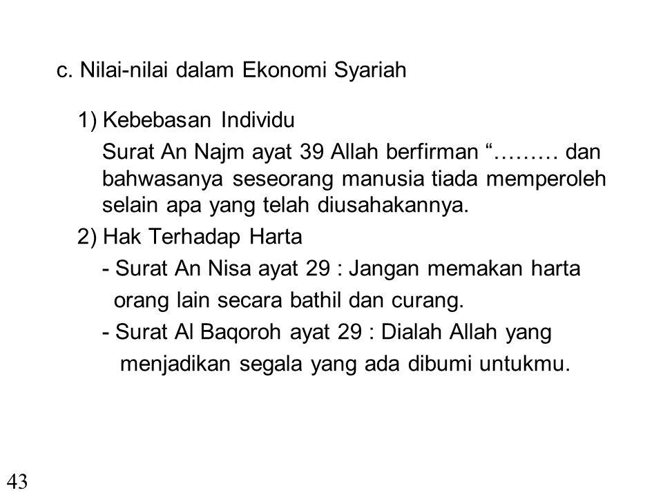 4. Sistem Ekonomi Syariah a. Pokok-pokok dan Nilai-nilainya - Kewajiban berusaha - Membasmi pengangguran - Mengakui hak milik - Iman kepada Allah b. T
