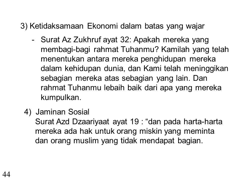 """c. Nilai-nilai dalam Ekonomi Syariah 1) Kebebasan Individu Surat An Najm ayat 39 Allah berfirman """"……… dan bahwasanya seseorang manusia tiada memperole"""