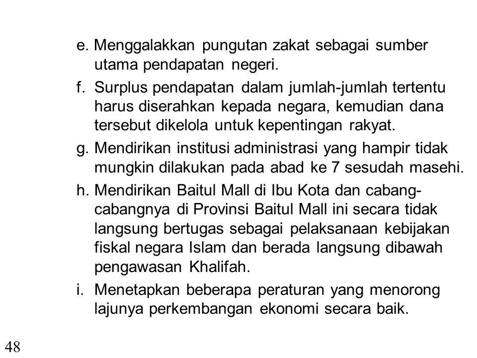 VI. PENDAPAT PARA AHLI EKONOMI SYARIAH 1. Umar Ibn Khattab Dalam bidang Ekonomi Islam menetapkan hal-hal sebagai berikut: a. Menggalakkan sektor perta