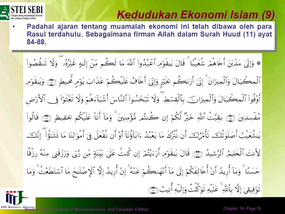 Mankiw et al. Principles of Microeconomics, 2nd Canadian Edition Chapter 14: Page 11 Jika jauh jarak perbedaan (kajian) syariah dengan kajian non syar