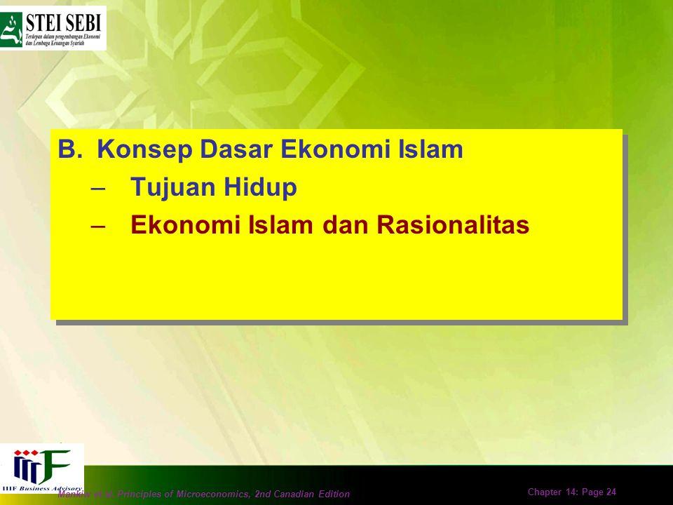 Mankiw et al. Principles of Microeconomics, 2nd Canadian Edition Chapter 14: Page 23 Permasalahan dalam Mencapai Falah (2) Ilmu ekonomi Islam lahir un