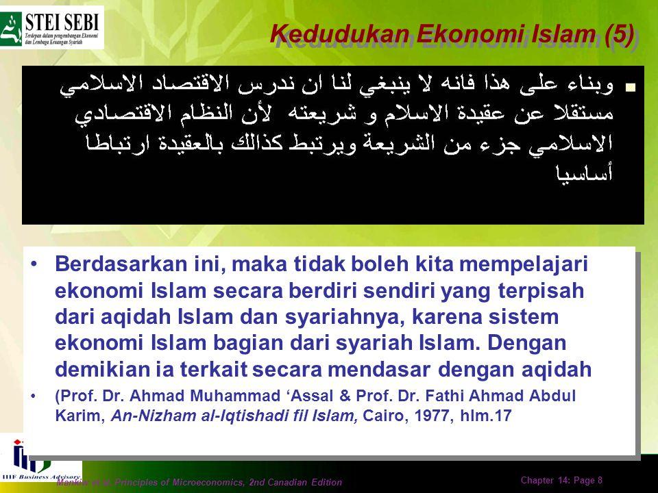 Mankiw et al. Principles of Microeconomics, 2nd Canadian Edition Chapter 14: Page 7 Sesungguhnya ekonomi Islam adalah bagian integral dari sistem Isla