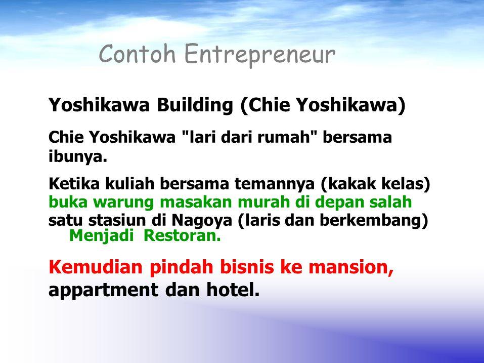 Contoh Entrepreneur Chie Yoshikawa